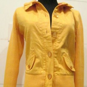 Paul Frank Sweaters - Vintage Preppy Yellow Ribbed Sweater Size M