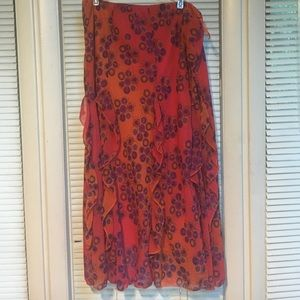 Dresses & Skirts - Pink and Orange Ruffled Skirt