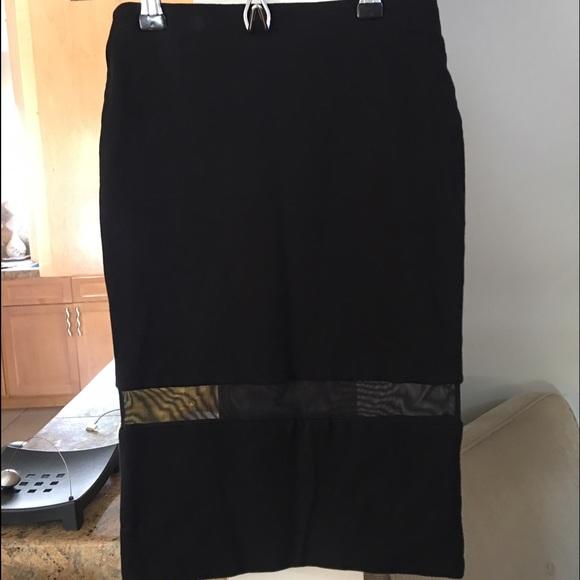 36e2636fbb Zara Skirts   Black Mesh Pencil Skirt   Poshmark