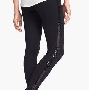 76858e6e2ffaa Lysse Pants   Black Sequin Stripe Leggings Sz M Nwt   Poshmark