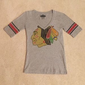 Red Jacket Tops - Women's Chicago Blackhawks V-Neck