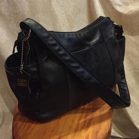 Merveilleux Cabin Creek Handbags   ,⚡ Sale CABIN CREEK Black Leather Purse