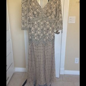 Pisarro Nights Dresses & Skirts - Beaded Mesh Drop Waist Dress by Pissaro Nights!