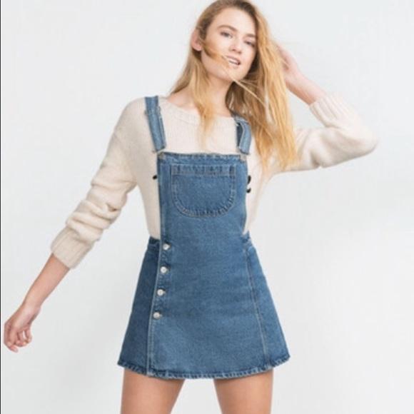 zara zara new denim overall dress size small from v s