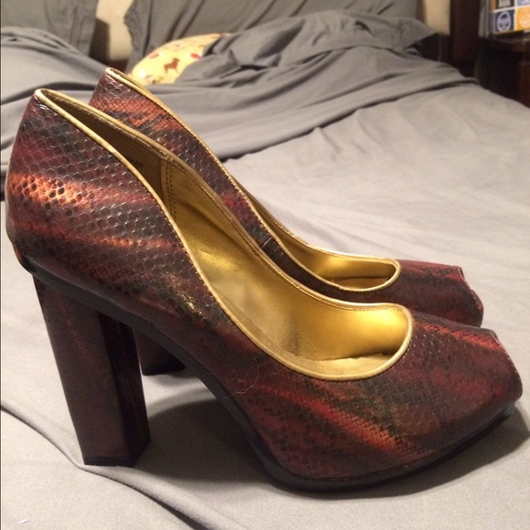 Christian Siriano Shoes - Christian Siriano for Payless snakeskin heels