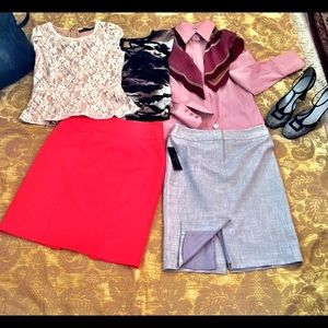 Bundle of Two Worthington Pencil Skirts