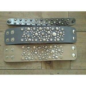 Jewelry - 😍host pick😍Leather Cuff Bracelet