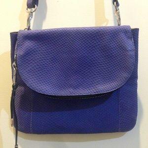 Charles Jourdan Handbags - Charles Jourdan Purple Leather Textured Bag