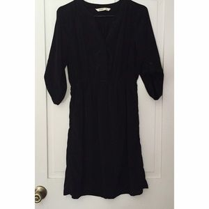 Quarter sleeve Black Business Dress