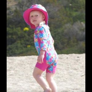 2Chillies Other - Butterfly Kids UPF Protection One Piece Swimsuit