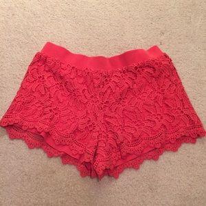 Lilly Pulitzer coral shorts