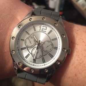 Unisex Gray Silicon Avon Watch