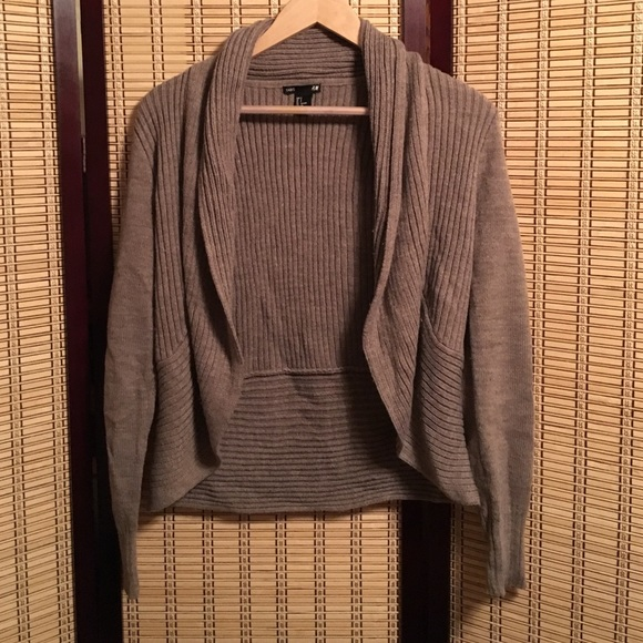 65% off H&M Sweaters - H&M shrug type sweater beige small from ...