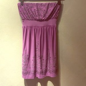 Body Central Tops - NWOT | Body Central Purple Tube Top w/ Sparkle / M