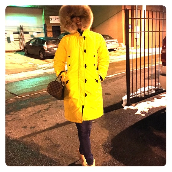 canada goose parka yellow