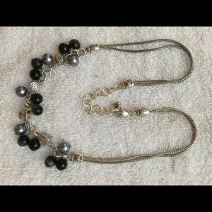 Brighton Necklace - Navy & Silver