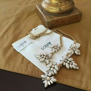 J. CREW Ivory Flower Necklace