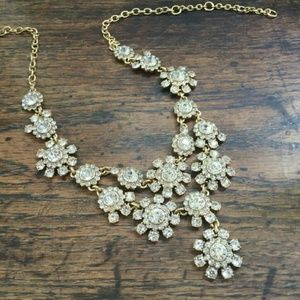 J. Crew Crystal Flower Necklace
