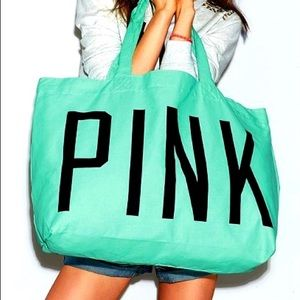 VS PINK Teal Oversized Tote