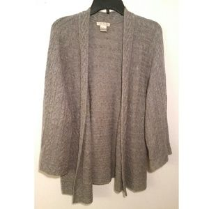 Kenar Sweaters - L 100% Cashmere Gray Slouchy Cardigan Sweater