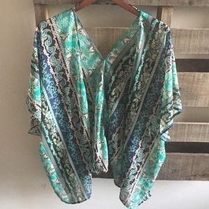Jackets & Blazers - Sheer patterned kimono
