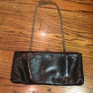 Hobo International Black Leather Clutch