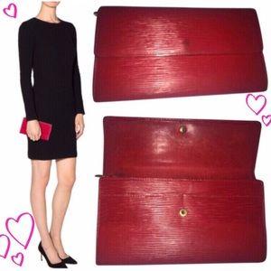 Authentic Louis Vuitton Epi Wallet - Red