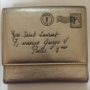 Authentic YSL Y-mail Classic Short Wallet
