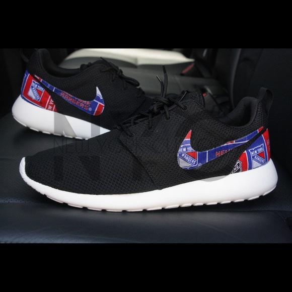 Nike Roshe One Black New York Rangers Custom Men & Women
