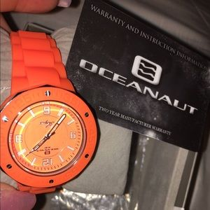 Oceanaut Accessories - ✨NWT✨Oceanaut Neon Orange Watch