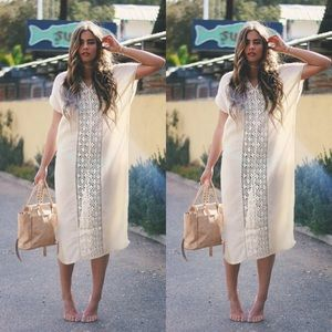 ||SALE || Boho Crochet Maxi Dress