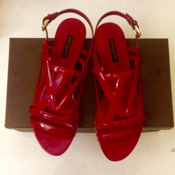 d6972849a4faf3 Louis Vuitton Shoes - Louis Vuitton Crossing Sandal Vernis Leather