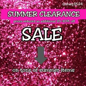 Clearance Sale Happening Now!!