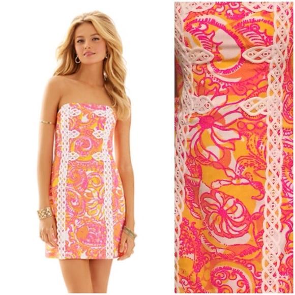 6e2849f0b030 Lilly Pulitzer Dresses | Nwt Tansy Strapless Dress | Poshmark