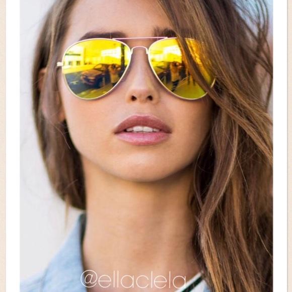 Aviator Mirrored Aviator Yellow Mirrored Sunglasses Sunglasses Yellow qMUGVLzpjS