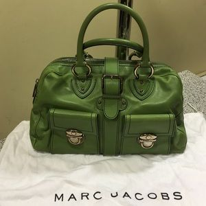 MARC  JACOBS  GREEN LEATHER BAG