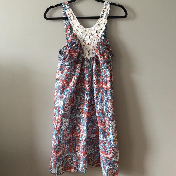 Prairie NY Dresses & Skirts - Prairie NY Blue, Red, and White Sundress Sz M