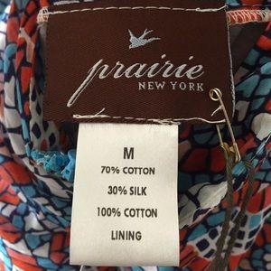 Prairie NY Dresses - Prairie NY Blue, Red, and White Sundress Sz M