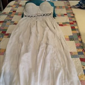 84ff1b8cd6 Mara Hoffman Dresses - Mara Hoffman white lattice strapless dress EUC