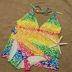 2Chillies Other - Peace Sign Tankini Swimsuit