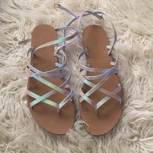 J. Crew Shoes - J. Crew Holographic Sandals