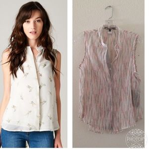 Love Stitch Tops - New with tags sheer buttoned top