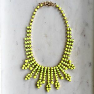 Neon Yellow Stone Statement Necklace