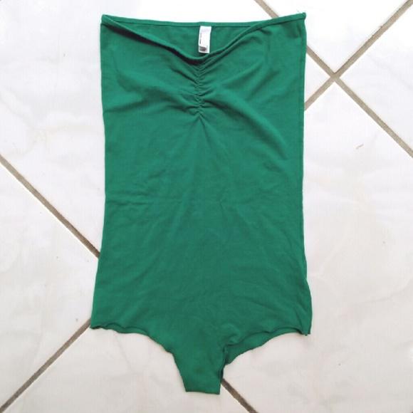 475429eb746 American Apparel Tops -  American Apparel  green strapless bodysuit