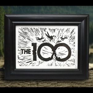Other - #The100 Linocut Print   One-of-a-Kind Fanart!