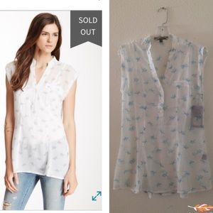 Love Stitch Tops - New with tags sheer goldfish print top