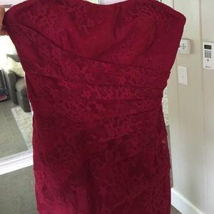 Monique Lhuillier Dresses & Skirts - Monique Lhuillier < Red lace dress