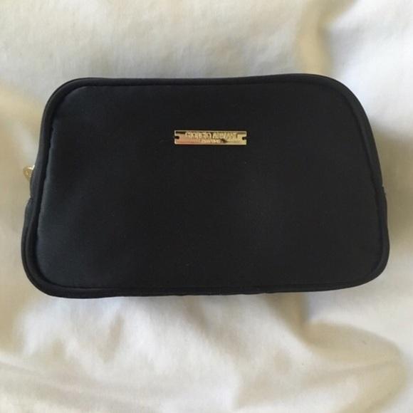 Giorgio Armani Handbags - Black Giorgio Armani Makeup Bag with Gold Logo