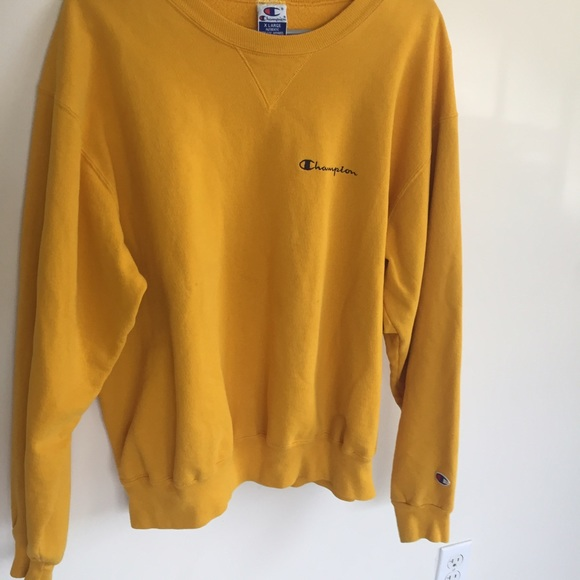 Mustard Yellow Champion Crewneck