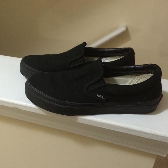 Vans Shoes   Black Vans Slip On Size 7